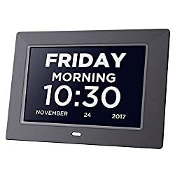 Day Clock Extra Large Impaired Vision Digital Clock Dementia with Time, Day and Date, Month and Year showing, Calendar/Photo Display Function, Perfect Gift for Elderly, Memory Loss