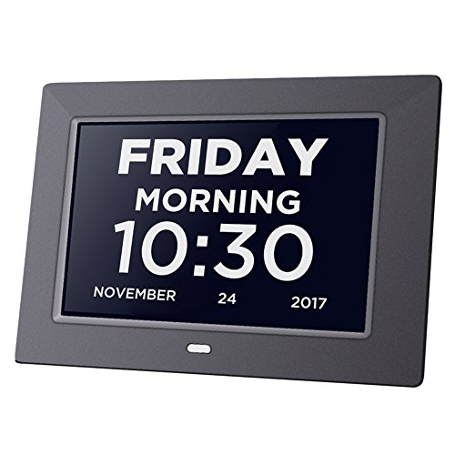 Day Clock Extra Large Impaired Vision Digital Clock Dementia with Time, Day and Date, Month and Year showing, Calendar/Photo Display Function, for Elderly, Memory (Extra Large Display)