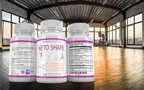 KETO SHAPE Fat Burn Formula: Max KETOSIS Energy Booster Complex Diet Pill that Works Best for Women and Men, Green Tea, Coffee Bean Extract, Raspberry Ketone, African Mango, Resveratrol 120 Veg Cap 7