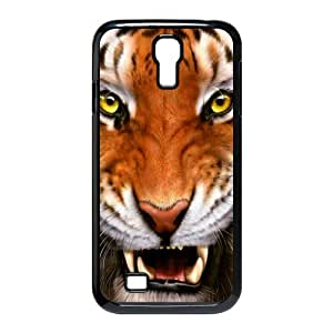 Cool Tiger Hard Plastic Case Cover For Samsung Galaxy S4 I9500-Black/White