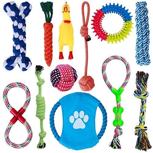 Parner Hundespielzeug, 12 Pcs Seil Ball Hunde Kauen Spielzeug Set Für Kleine große mittelgroßen Hund Interaktives…