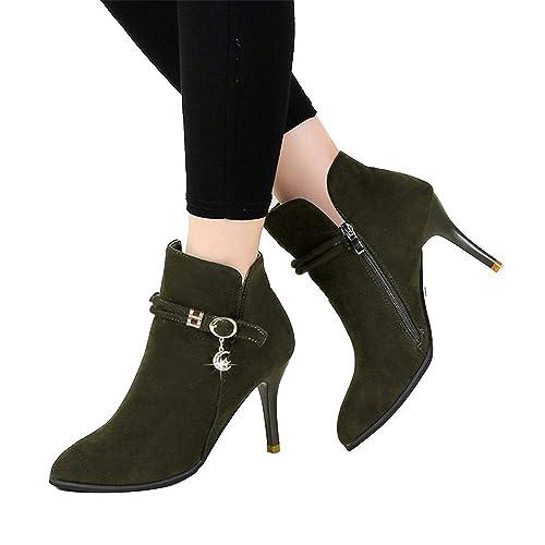 Shirloy Zapatos Mujer Botas Mujer otoño e Invierno Puntadas ...