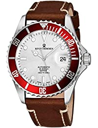 Mens Automatic Diver Watch - 42mm Analog Silver Face Diving Watch with Luminous Hands, Date and Sapphire Crystal...