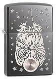Zippo Wizard Lighter, Black Ice