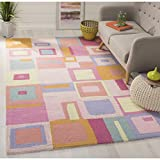Safavieh Kids Collection SFK317A Handmade Pink and Multi Cotton Area Rug (4′ x 6′) Review