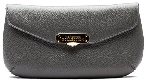 Versace-Collection-Pebbled-Leather-Clutch-Handbag