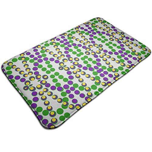Mardi Gras Beads Funny Text Doormat Floor Mat Rug Indoor/Outdoor/Front Door/Bathroom Mats Rubber Non Slip, Door Mat for Entry,Back Door -