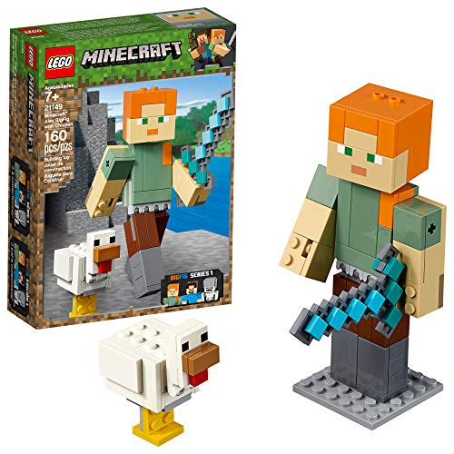 LEGO Minecraft Alex BigFig with Chicken 21149 Building Kit , New 2019 (160 Piece) -