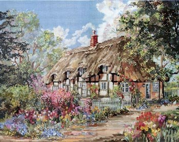 Cottage Marty Bell (Pegasus Originals Tulip Time by Marty Bell Counted Cross Stitch Chart Pack)