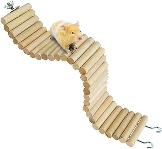 Hámster sirio Bendy Puentes de madera largos, hámster enano, escalera, juguetes flexibles, jerbo masticar cosas de madera natural para dientes, hámsteres, rampa de escalada para roedores, ratones, ratones y ratas: Amazon.es: Productos