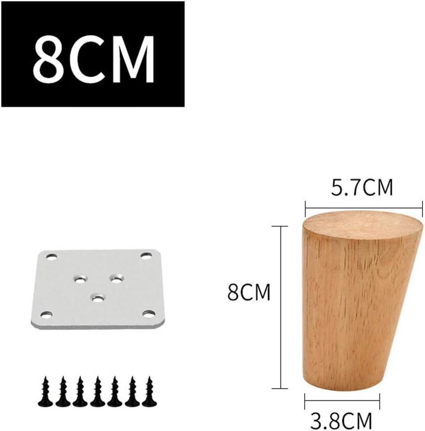 Patas de Muebles de Madera Patas de Muebles de Madera oblicuas c/ónicas para caf/é y Mesa Auxiliar Gabinete Soporte de TV,40cm