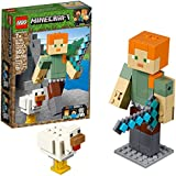 LEGO MINECRAFT-21149-ALEX BIGFIG ALEX COM GALINHA