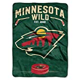 Wild OFFICIAL National Hockey League, Inspired 60x 80 Raschel Throw
