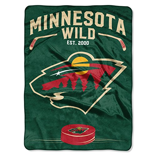 Wild OFFICIAL National Hockey League, Inspired 60x 80 Raschel Throw by Northwest Official