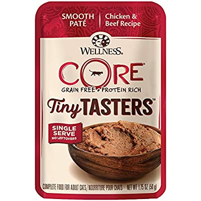 Wellness New Core Natural Grain Free Tiny Tasters, Chicken & Beef, 1.75 oz (Pack of 12)