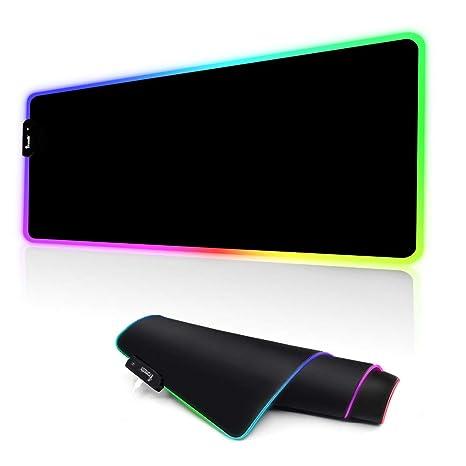YONSY RGB Alfombrilla Raton Ordenador Gaming,Mousepad Gaming Base de Goma Antideslizante, Alfombrilla de