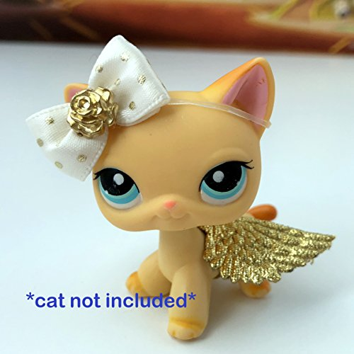 Angel Doll Littlest (Littlest Pet Shop Accessories LPS Lot Bow and Fairy Wings CAT NOT INCLUDED)
