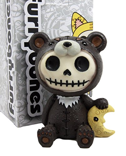 Atlantic Collectibles Furry Bones Kuma The Black Teddy Bear Costume Skeleton Monster Collectible Figurine -