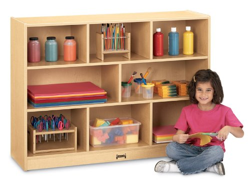 MapleWave Single Storage Unit w 3 Sectioned Shelves