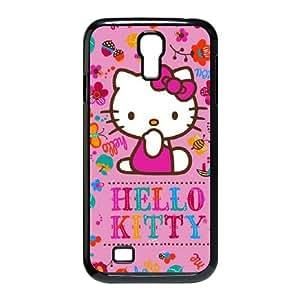 Samsung Galaxy S4 9500 Cell Phone Case Black_Hello Kitty Smile Gqlhv