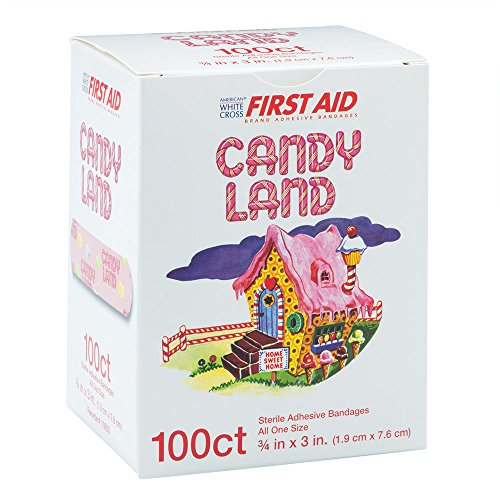 Candy Land Bandages - First Aid Supplies - 100 per Pack -