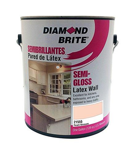 Paint Gallon Peach - Diamond Brite Paint 21550 1-Gallon Semi Gloss Latex Paint Peach Blossom