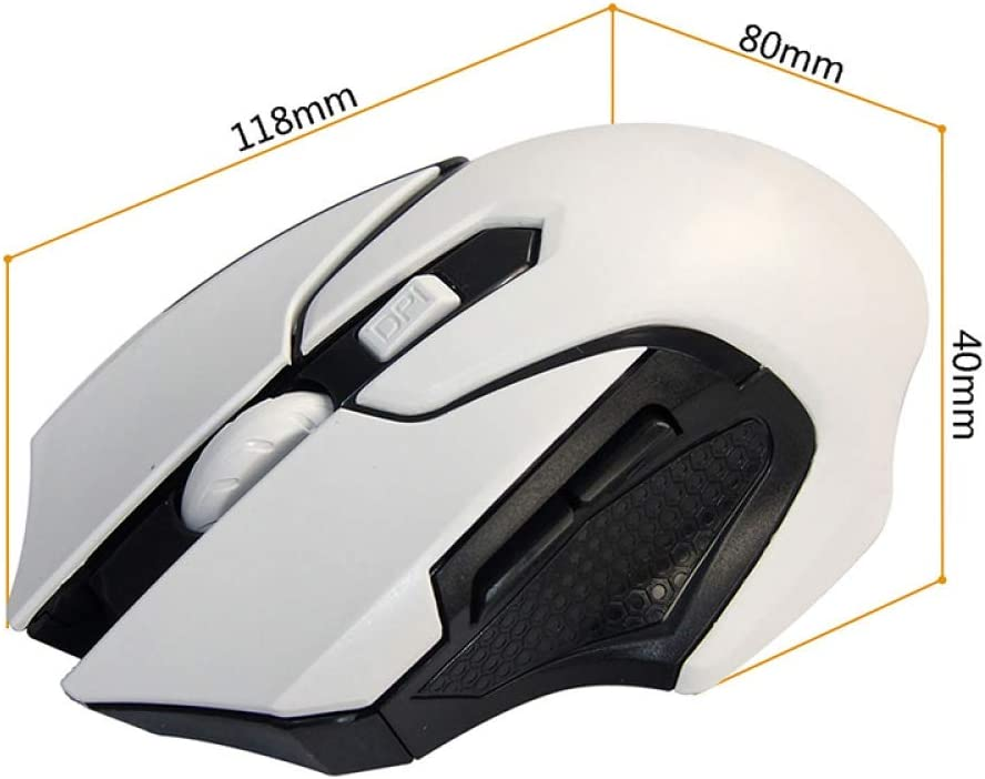 YMJSU Wireless Mouse New Hot 2.4G USB Red Optical Wireless Mouse for Computer Laptop Gaming Mice 10M Working Distance Receiver Mouse