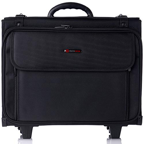 "Alpine Swiss Rolling Briefcase Hard Side Catalog Case 17"" Laptop ()"