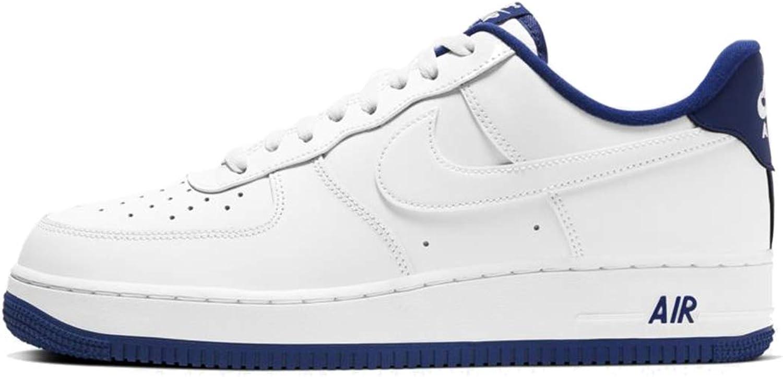 dañar sorpresa Dando  Amazon.com | Nike Mens Air Force 1 '07 White/Deep Royal Blue/White  CD0884-102 Size | Basketball