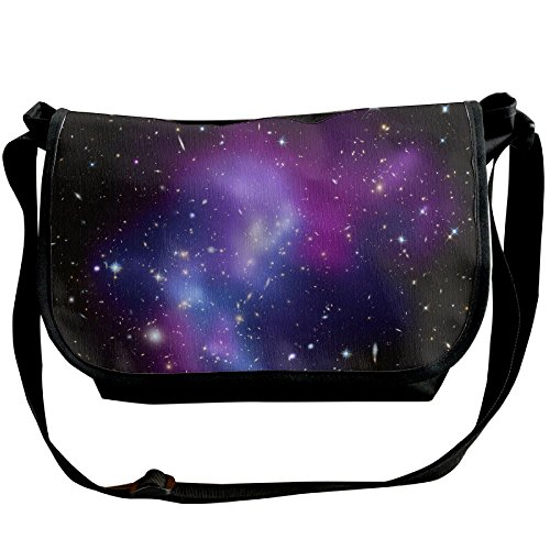 Adjustable Cluster (Unisex Wide Diagonal Shoulder Bag Galaxy Cluster Printed Casual Messenger Travel Crossbody Bag Adjustable Shoulder Tote Bag)