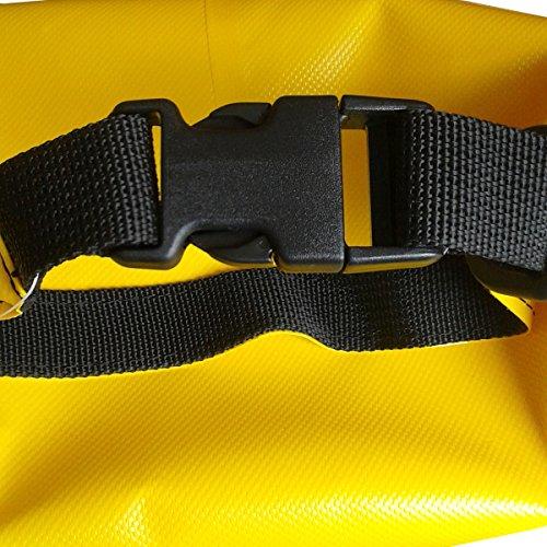 CROSSO Transportbeutel für den Gepäckträger Gelb 10 L