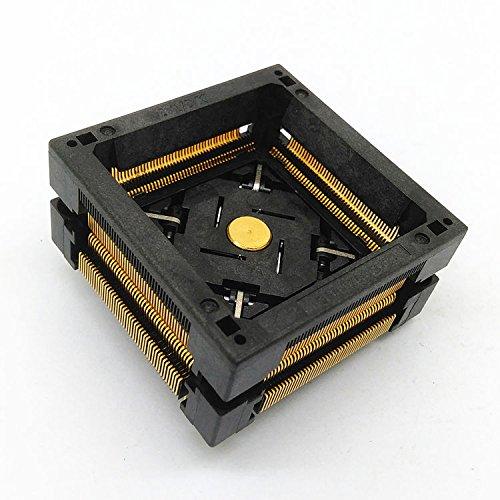 ALLSOCKET QFP176-0.5 Socket IC Burn-in Tesing Socket OTQ-176-0.5-0.6-00 0.5mm Pitch 24x24mm IC Dimension Open-top Socket Soldering Version(QFP176-0.5-STP)