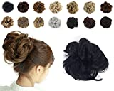 #2: Haironline Scrunchie Bun Up Do Hair Piece Hair Ribbon Ponytail Extensions Wavy Curly