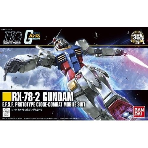 Bandai Hobby HGUC RX-78-2 Gundam Revive Model Kit, 1/144 Scale (Mech Model Kit)