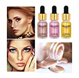 Hoshell 3PC Women Sexy Beauty Shimmer Liquid Brighten Highlighter Oil Concealer Makeup Cosmetic (B)