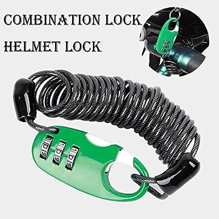 Bike Chain Lock U Lock High Security Outdoors Mountain Bike Helmet Chezaa Bike Lock Cable 4 Digit Resettable Combination Bicycle Locks Lightweight Anti Theft