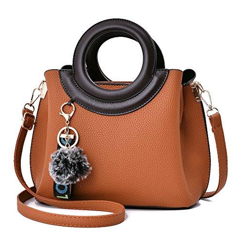 De Rosa Señora De GWQGZ Nuevo Cómodo Casual Bolso Y Brown Hombro Bolso Elegante 5XRXnPC