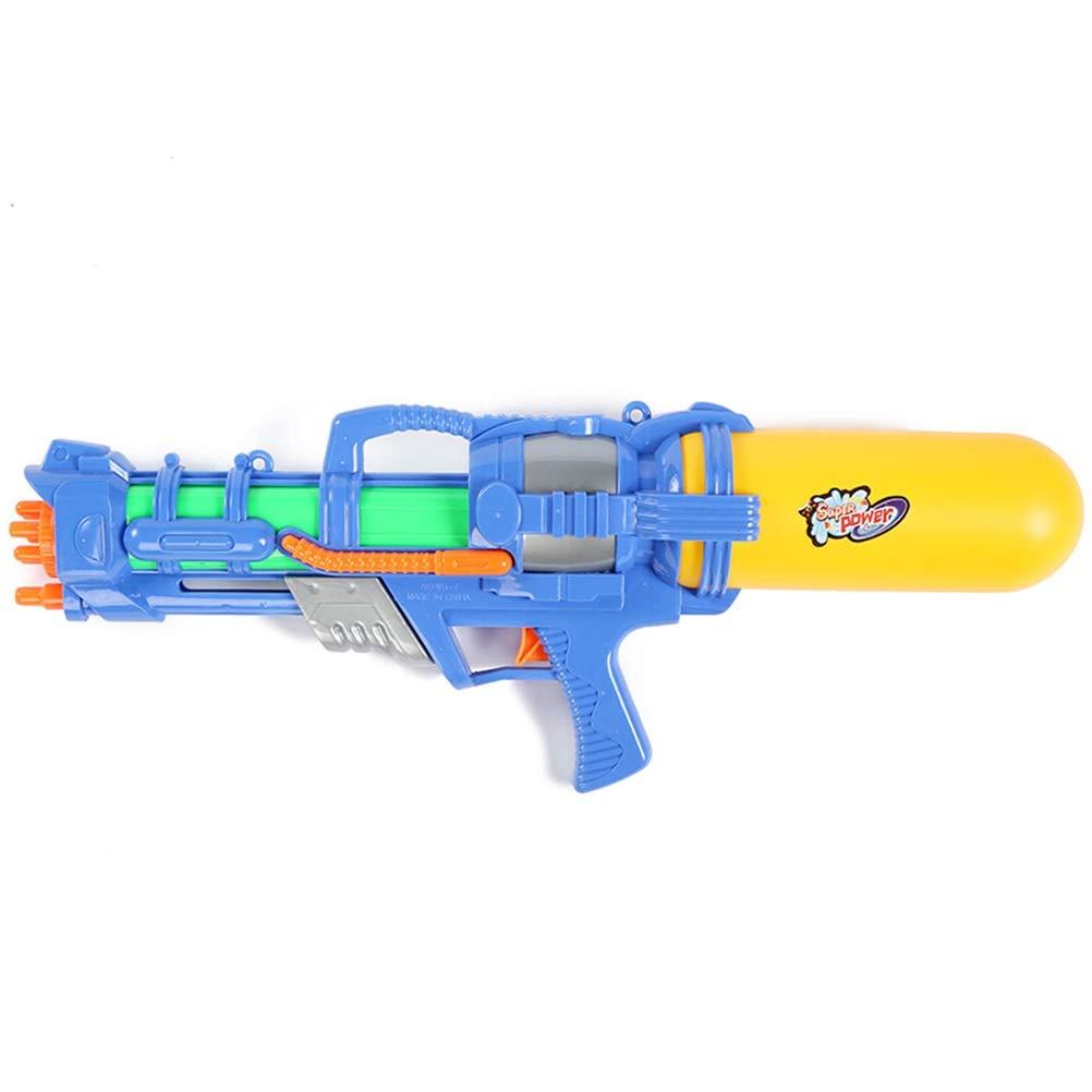 スーパーソーカーウォーターブラスター玩具ウォーターガンウォーターピストルビーチ子供用ウォーターガン玩具大人用プル型ウォーターガンブルー51cm   B07RB49YV4