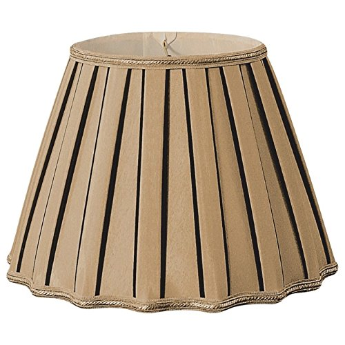 Royal Designs Staggered Pleat Antique Gold/Black Designer Lamp Shade by Royal Designs, Inc