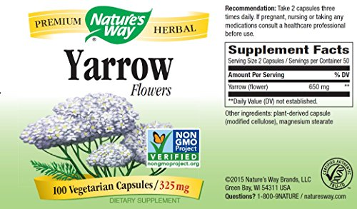 Nature's Way Yarrow Flowers 325 Mg, 100 Vcaps, 100 Count by Nature's Way (Image #2)