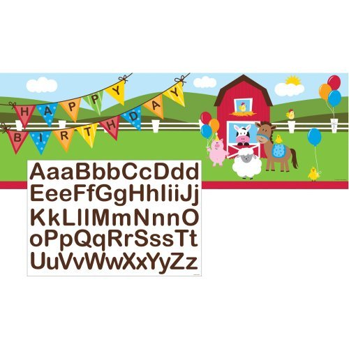 Farm House Fun Giant Party Banner w/Stck by Creative Converting ()