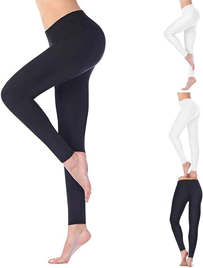 Fitness Pantalones de Entrenamiento para Mujer,Leggings de Cintura ...