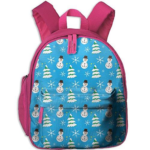 Kids Children Backpack Christmas Snowman Cute Lightweight Oxford Waterproof School Book Bag Double Zipper - Versace India