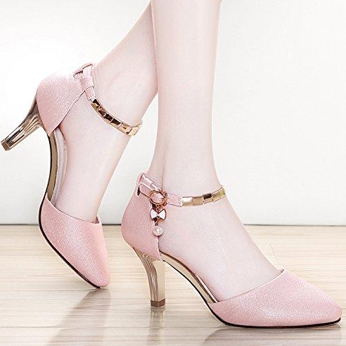 EU33 22 Bien Avec La Chaussures Princesse UK1 Haute Sandales La Femmes SHOESHAOGE Fille Chaussures Très Couleur Talon a6qK0Y