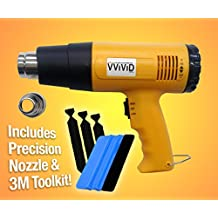 VViViD Professional Heat Gun Automotive Vinyl Wrap Tool Including Precision Nozzle and 3M Toolkit