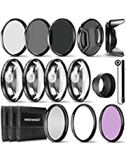 Neewer Kit Accesorio Filtro 77MM Lente Completa para Lente Filtro 77MM:Kit Filtro UV CPL FLD+Set Macro Close Up(+ 1 + 2 + 4 + 10)+Set Filtros ND(ND2 ND4 ND8)+Otros Accesorios