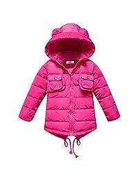 iikids Unisex Boys/Girls Long Puffer Snowsuit Hooded Winter Outwear Outfit Jacket