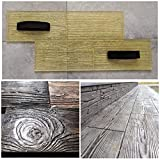 Concrete texture stamp POLYURETHANE mat printing on cement Board WOODEN PLANK