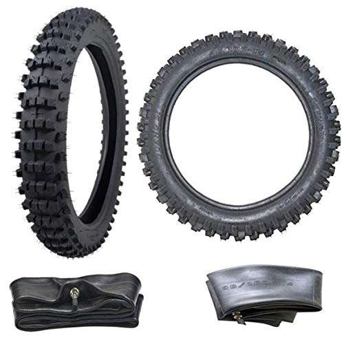 - ZXTDR Front 70/100-17 and Rear 90/100-14 Tire and Inner Tube Set for Motorycle Trail Off Road Dirt Bike Motocross Pit