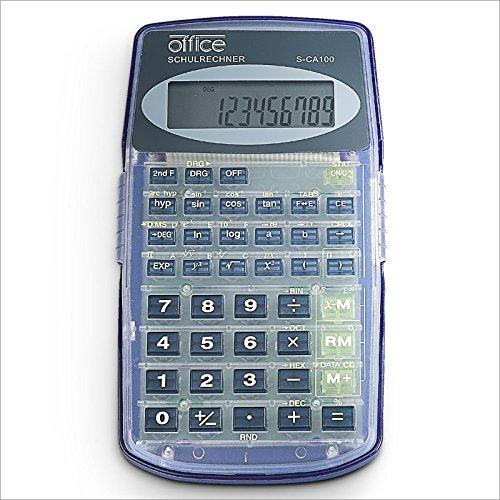 Relaxdays Wissenschaftlicher Taschenrechner mit 136 Funktionen, 10-stelliges Display 2-zeilig